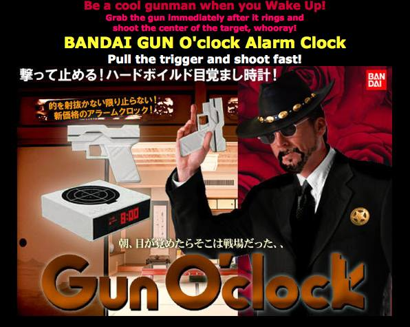Gun O'Clock: The Alarm Clock For Those With No Respect For Time Commitments