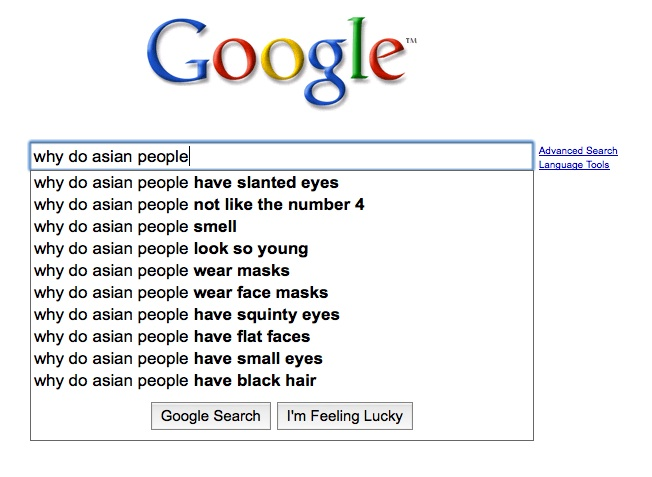 Google Suggestions Prove How Horrible We Are