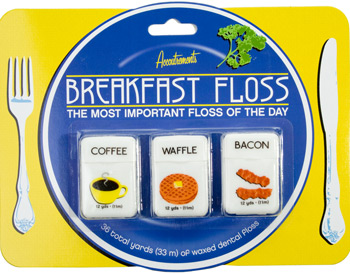 Bacon-Flavored Floss Perfect With My Egg Toothpaste