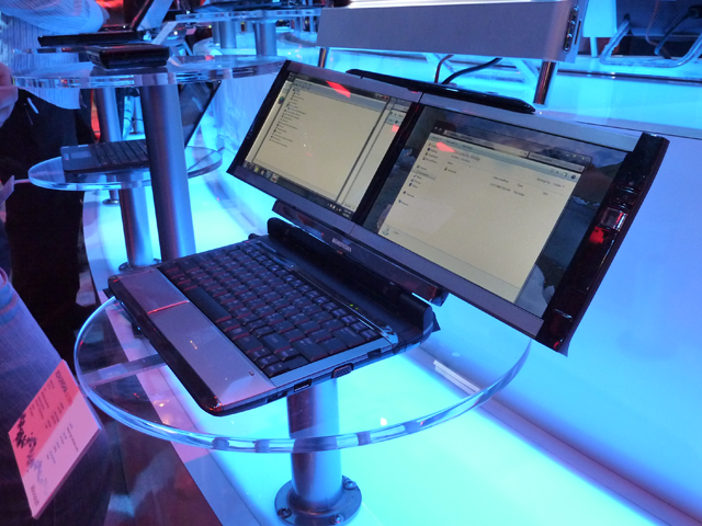 Dual-Screen Laptop Shown Off At CES 2010