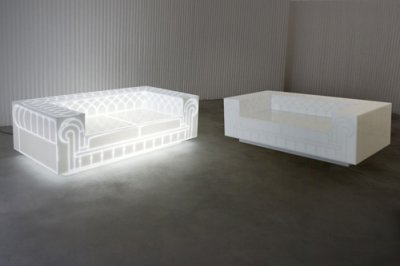 LEDs Turn Funky Foam Into Faux Fancy Couch