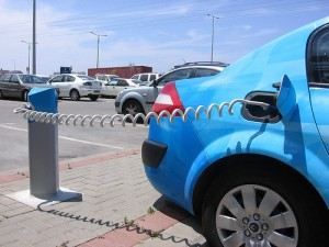 electric car charging in grid