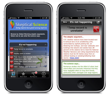 2 iPhone Apps To Help Battle Climate Change Deniers