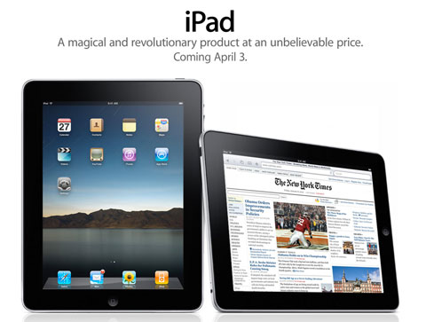 Confirmed: iPad To Launch April 3rd