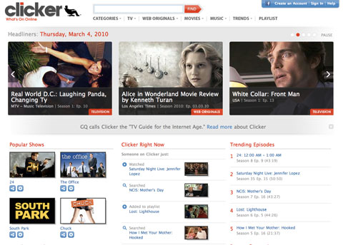 Online Video Guide Clicker Launches Redesign