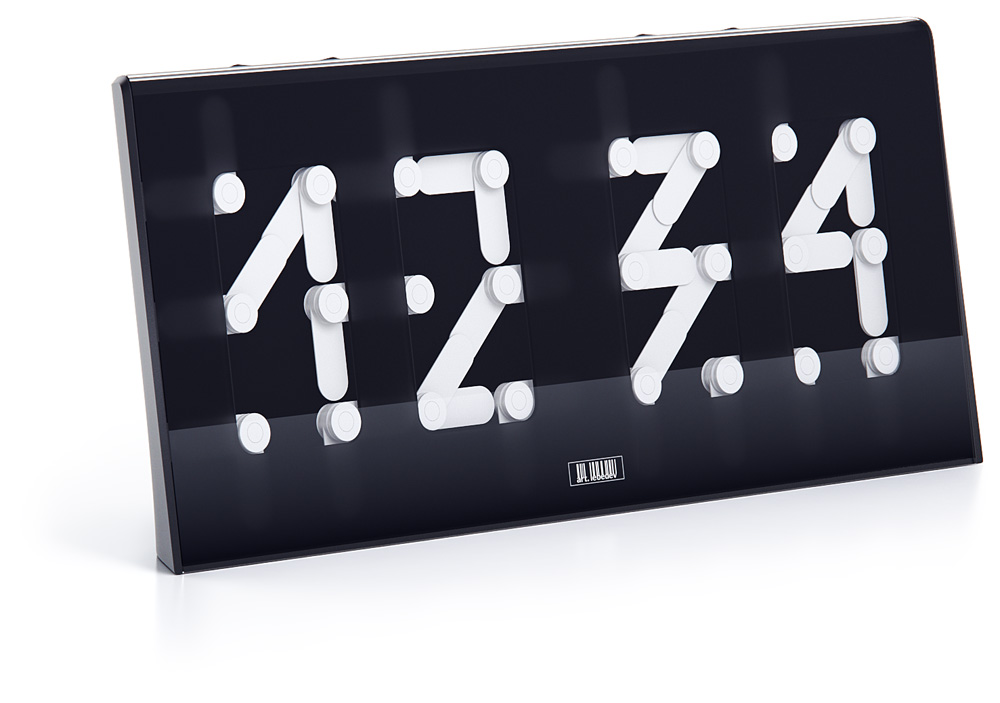 Concept Clock Creates Digital From Analog