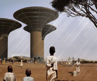 Futuristic Tower Taps Into Underground Water