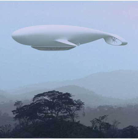 Whale-Shaped Airship First Flying Hotel