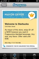 Starbucks Offering Coupons Via Foursquare